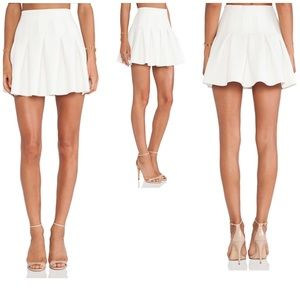 🔴Lovers + Friends Women's Mini Skirt in Ivory S